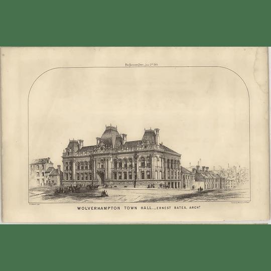 1869 Wolverhampton Town Hall, Ernest Bates Architect, Street View