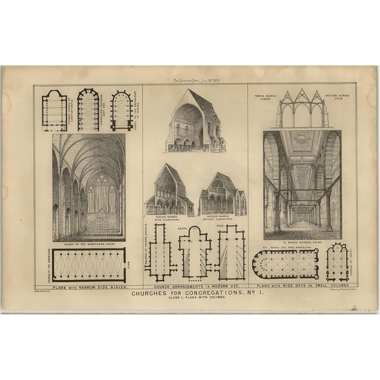 1869 Design Of Churches For Congregations, Temple Church London