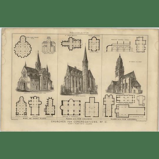 1869 Church Plans St Cross Breslau, St Marie Du Mont