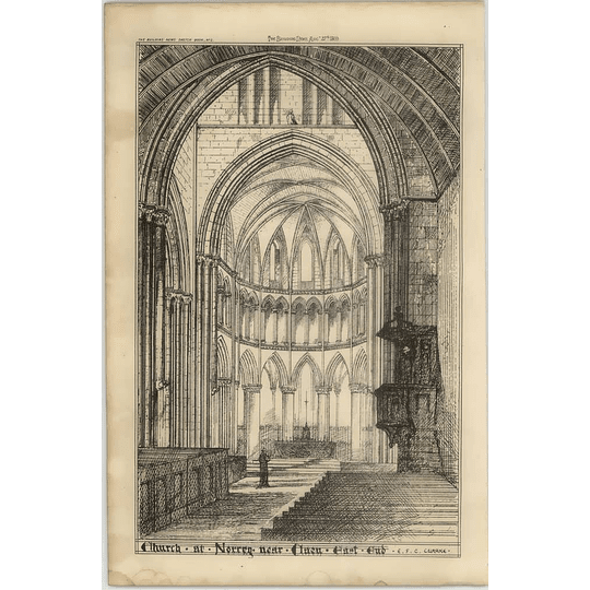 1869 Church At Norrey Near Caen East End, Interior