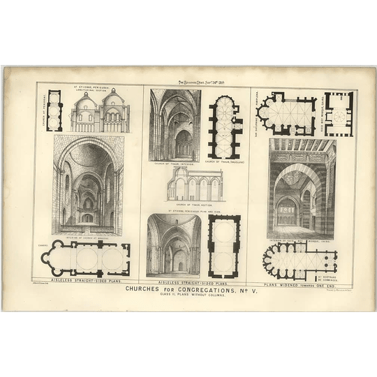1869 Church Plans Thaur, Kaid Bey Mosque