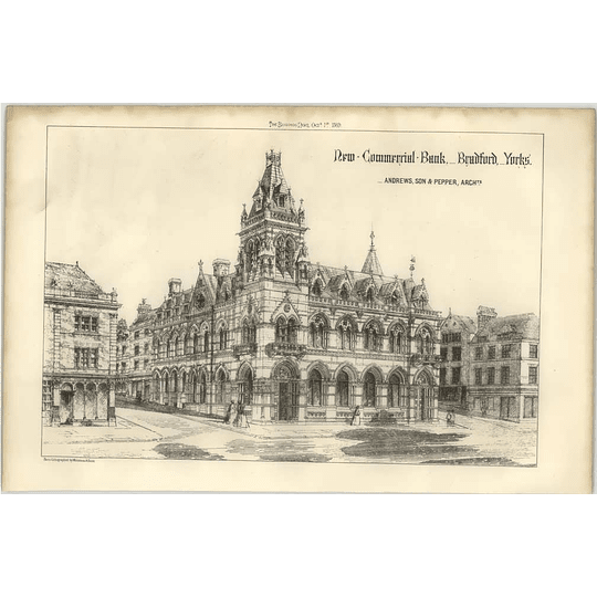 1869 New Commercial Bank, Bradford Yorkshire, Andrews Pepper