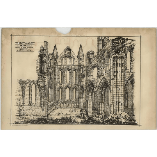 1869 Whitby Abbey Yorkshire, Interior Of North Transept Eh Smales