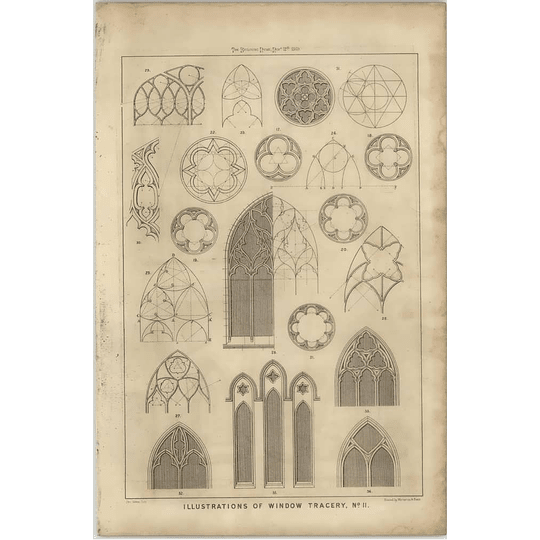 1869 Illustrations Of Window Tracery, Various