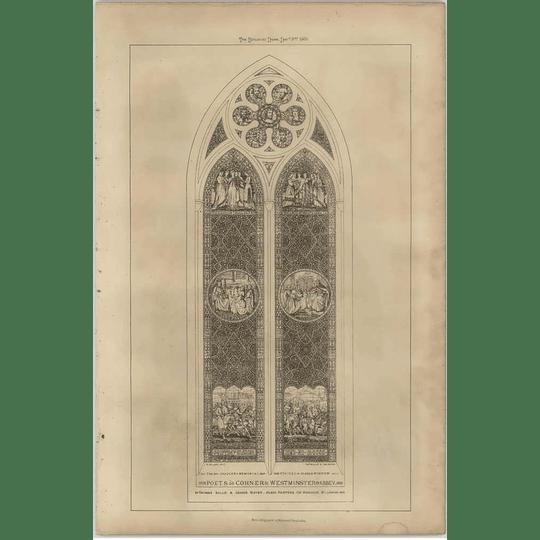 1869 Poets Corner, Westminster Abbey, Window Drawing