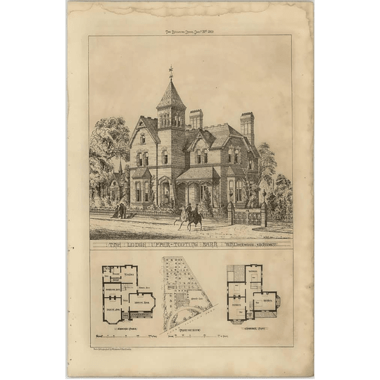 1869 The Lodge, Upper Tooting Park , Lockwood Architect