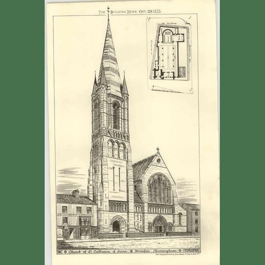 1875 Church Of St Catherine Of Siena, Horsefair, Birmingham