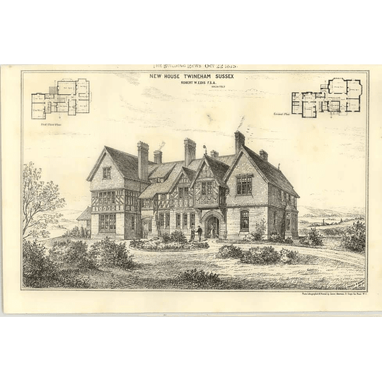 1875 New House At Twineham Sussex Design Plan
