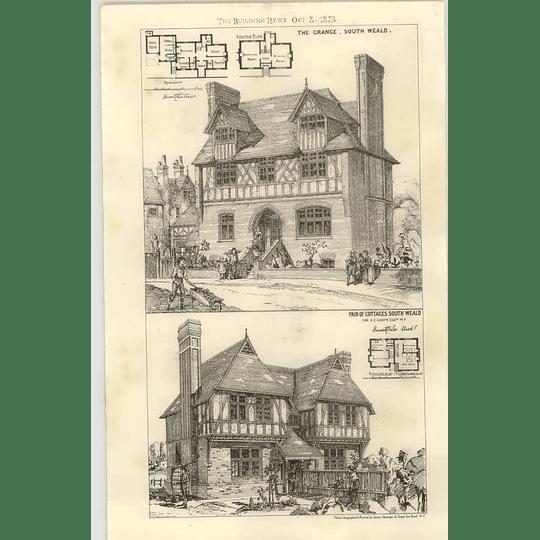 1875 Cottages At South Weald, The Grange, Design, Plan