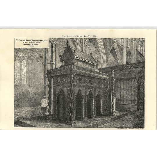 1875 St Edwards Shrine Westminster Abbey As In The 14th Century