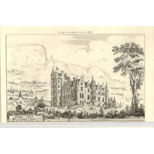 1875 Belfast Castle Seat Of The Marquess Of Donegal