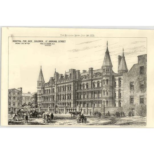 1875 Hospital For Sick Children Gt Ormond Street