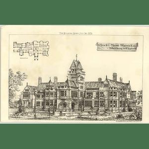 1875 Haseley Manor, Warwick, Design, Plan