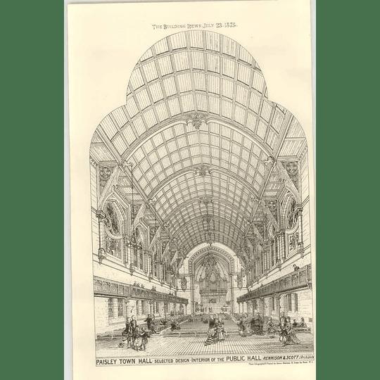 1875 Paisley Town Hall, Interior Design Public Hall