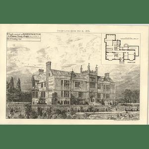 1875 House Erected At Bournemouth For Edmund Christy Esq Design, Plan