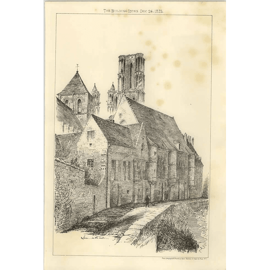 1875 Laon In The Water Artwork Sketch