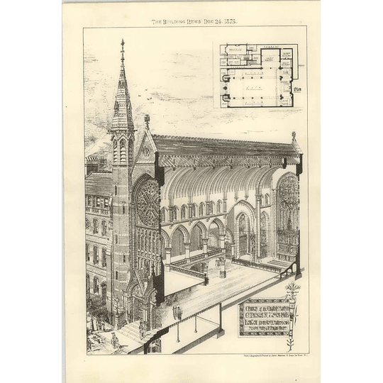 1875 Church Of The English Martyrs Great Prescot Street Tower Hill