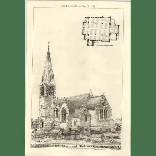 1875 St John's Church, Blackpool, Design, Plan