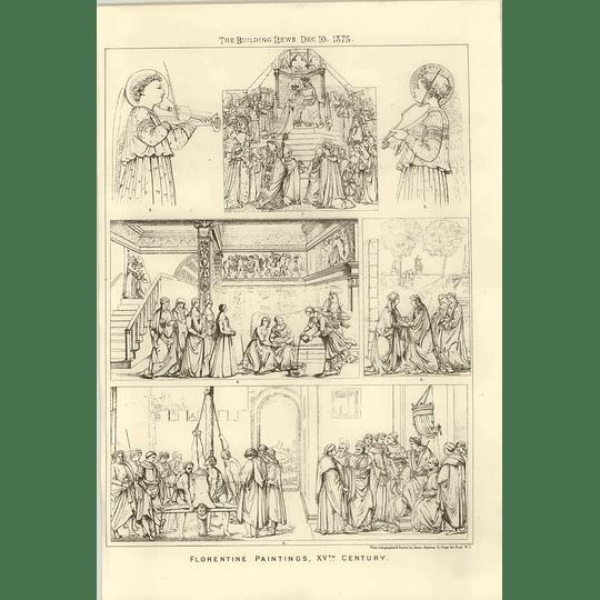 1875 Florentine Paintings 15th Century