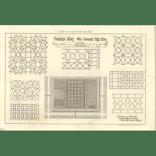 1875 Fountains Abbey Tile Pavement High Altar