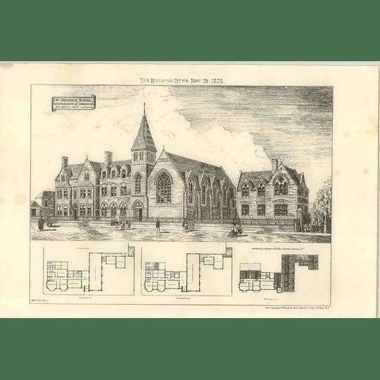 1875 The Grammar School At Trafalgar Road Great Yarmouth