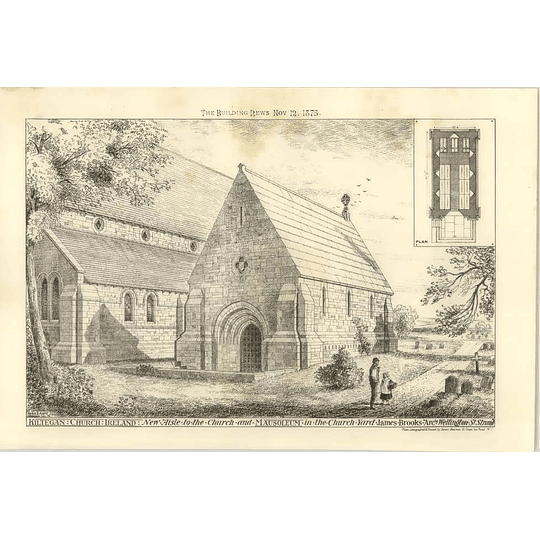 1875 Kiltegan Church, Ireland, Mausoleum In Churchyard