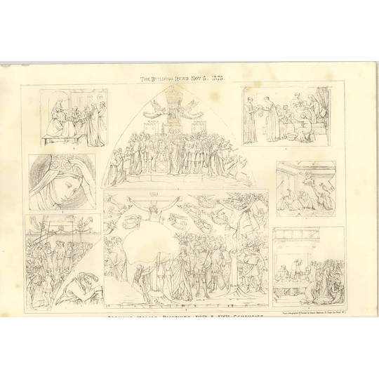 1875 German Italian Paintings 13th 14th Century