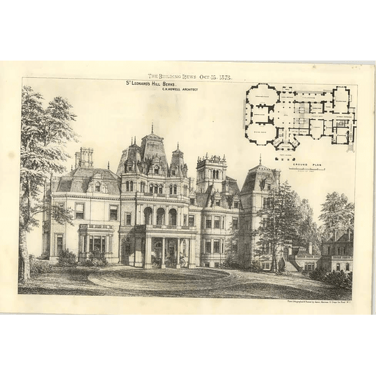 1875 St Leonards Hill Berkshire, Design, Plan