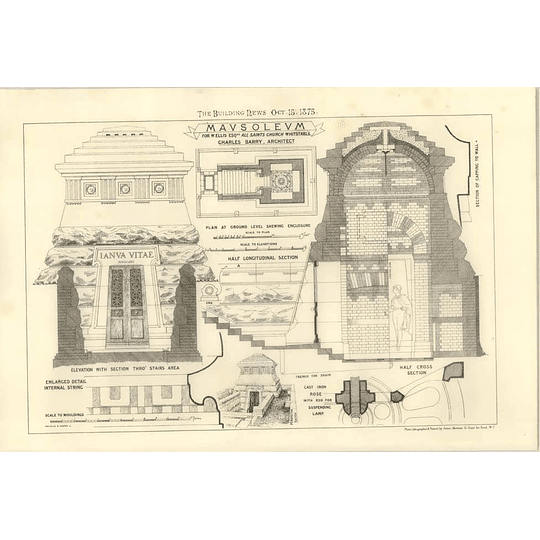 1875 Mausoleums At All Sts Church Whitstable For W Ellis