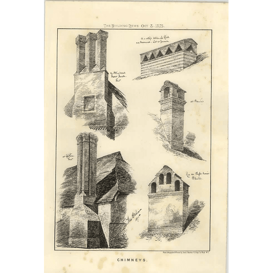 1875 Chimneys, Structural Design, Hollingbourne Manor, Beauvais,