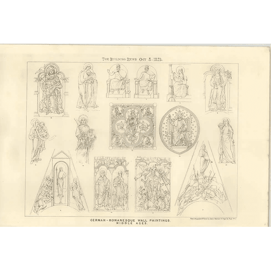 1875 German Romanesque Wall Paintings Of The Middle Ages