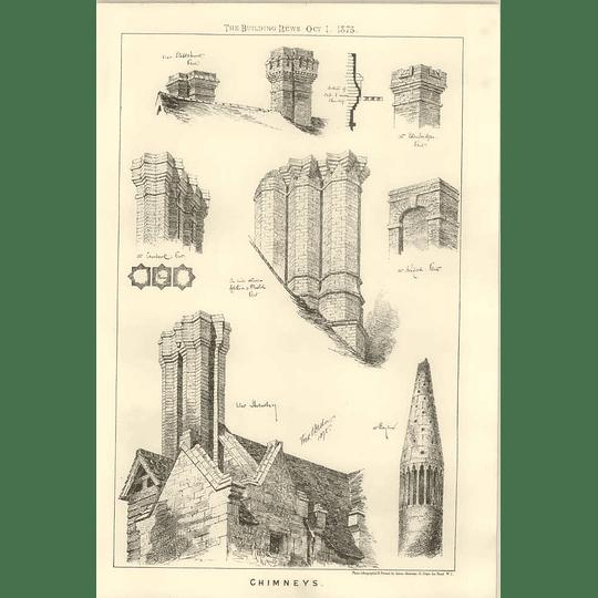 1875 Chimneys Near Shrewsbury Belford Kent Edenbridge Cranbrook Staplehurst