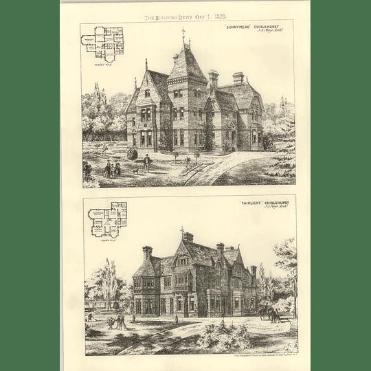 1875 New Homes Chislehurst, Fairlight, Sunnymead, Design, Plan