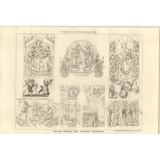 1875 Italian French And German Paintings, Designs