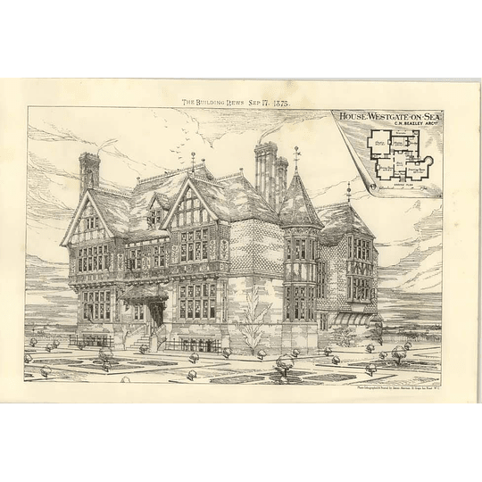 1875 New House At Westgate On Sea, Design, Plan