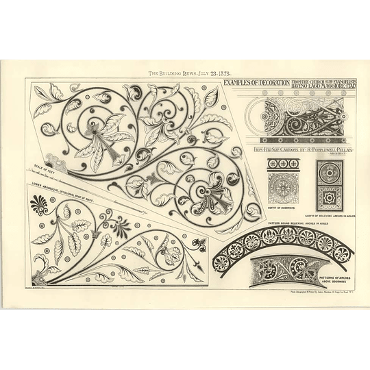 1875 Decorations From The Church Of Evangelists By Baveno Lago Maggiore Italy