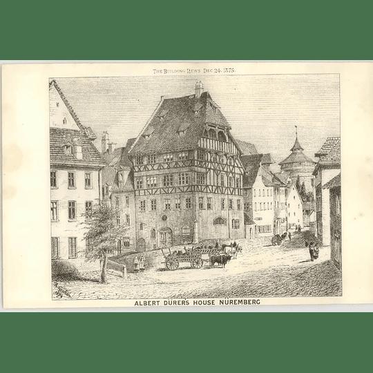 1875 Albert Dürer's House In Nuremberg, Street Scene