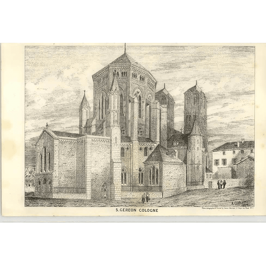 1875 Church Of St Gereon, Cologne