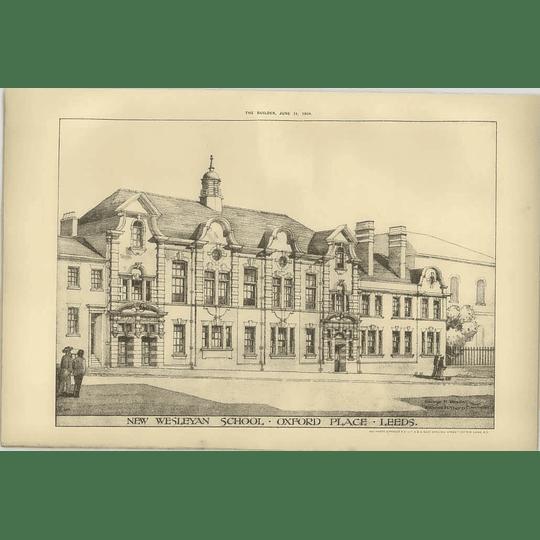 1904 New Wesleyan School, Oxford Place, Leeds