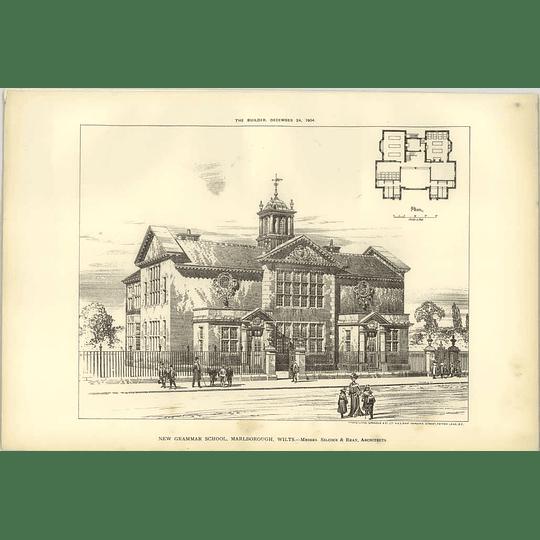 1904 New Grammar School, Marlborough, Wiltshire, Silcock Reay