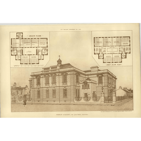 1902 Wishaw Academy, Design, Plans