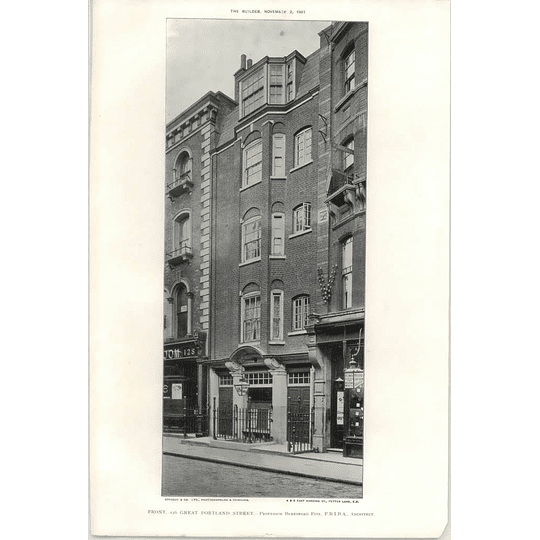 1907 The Front Of 126 Great Portland Street