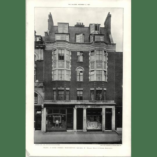 1907 Flats At 18 Duke Street Manchester Square, Herbert Abbott Premises