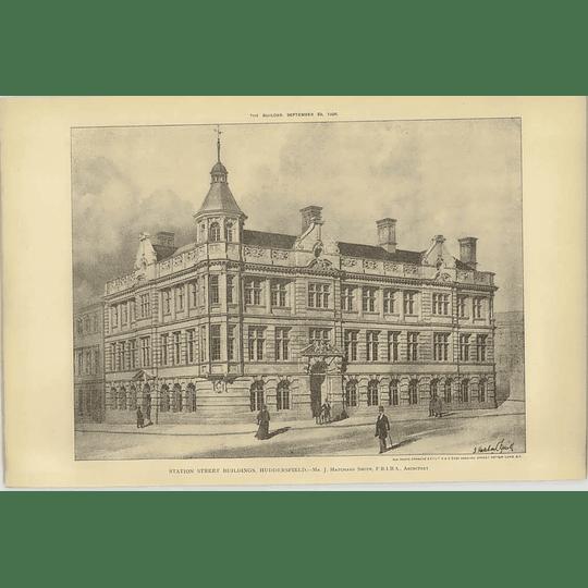 1906 Station Street Buildings, Huddersfield, Hatchard Smith Architect