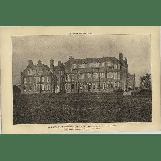 1906 King Edward Vii Grammar School, Kings Lynn, Headmasters House
