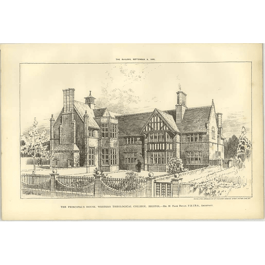 1905 The Principal's House, Western Theological College Bristol Dare Bryan