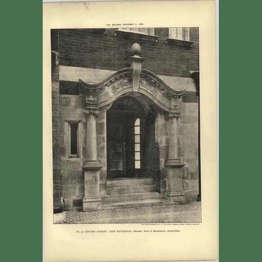 1904 Number 91, Oxford Street, Side Entrance