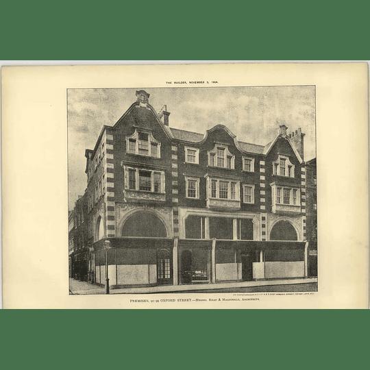 1904 Premises Of 91 To 99 Oxford Street, Read Macdonald Architect