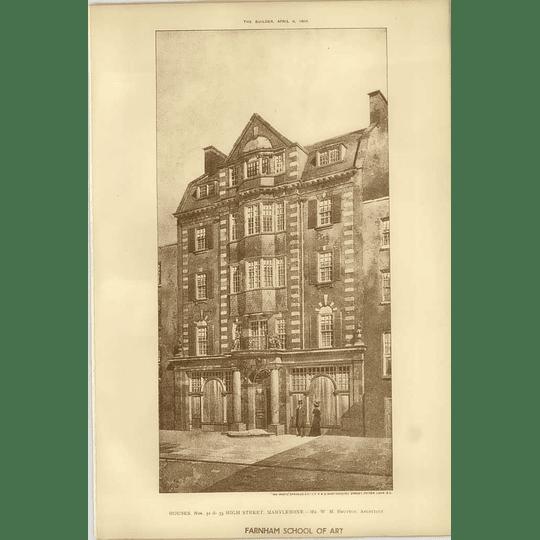 1904 Houses 32 And 33 High Street Marylebone Wn Brutton