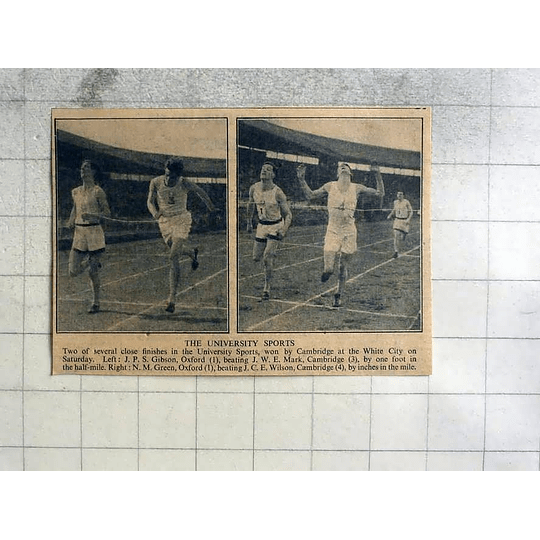 1946 University Sports, Gibson Beating Mark, Green Beating Wilson Mile